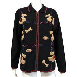 VTG Tabi Woolmark Embroidery Dog Cardigan